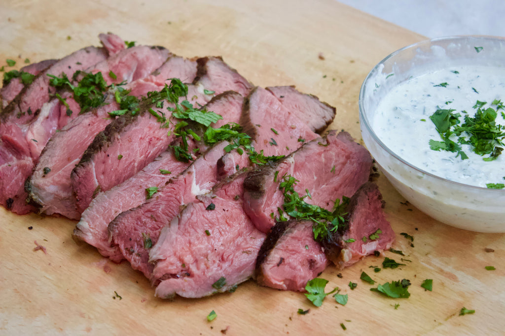 Recipe: Herb Crusted Sirloin Tip Roast with Horseradish