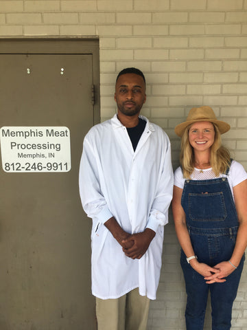 Vince from Memphis Meats with Maggie.