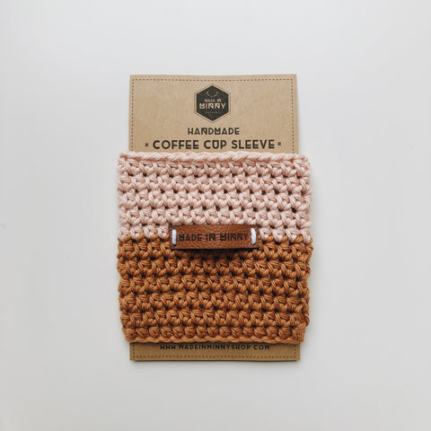Coffee Cup Sleeve | Blush & Antique Gold