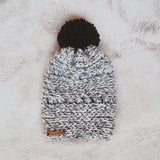 Cozy Two Tone Beanie | Gray + White