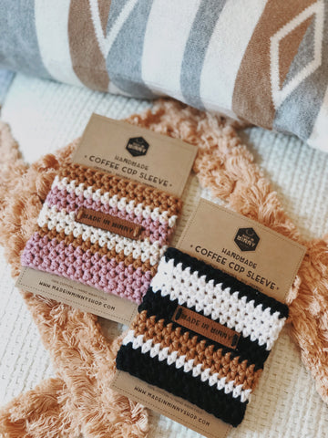 Striped Coffee Cup Sleeves (2 colorways)