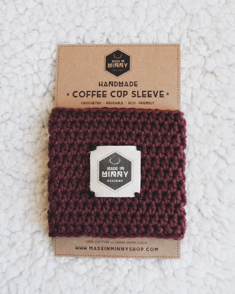 Coffee Cup Sleeve | Burgundy
