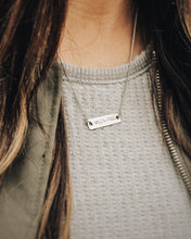 Wild & Free Silver Bar Necklace