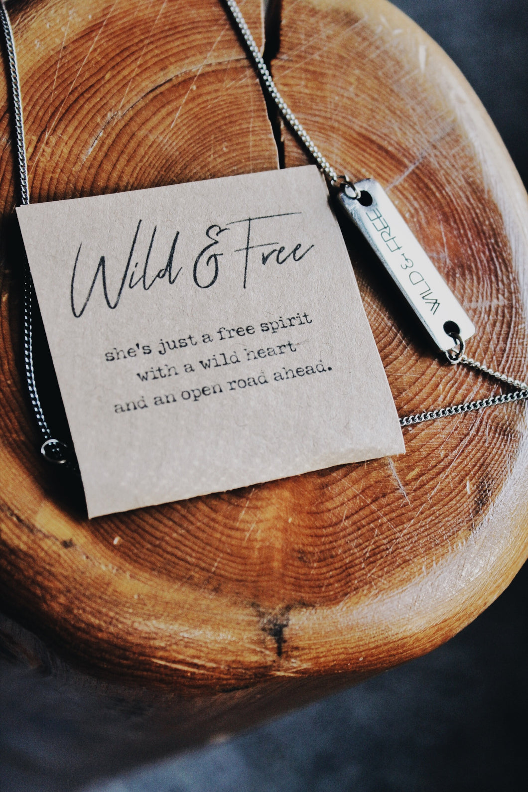 Wild & Free Silver Bar Necklace *LIMITED QUANTITIES AVAILABLE*