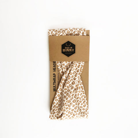 Multiwrap Headband | Cream & Tan Leopard