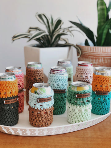 Crocheted Can Coozies (multiple colors)