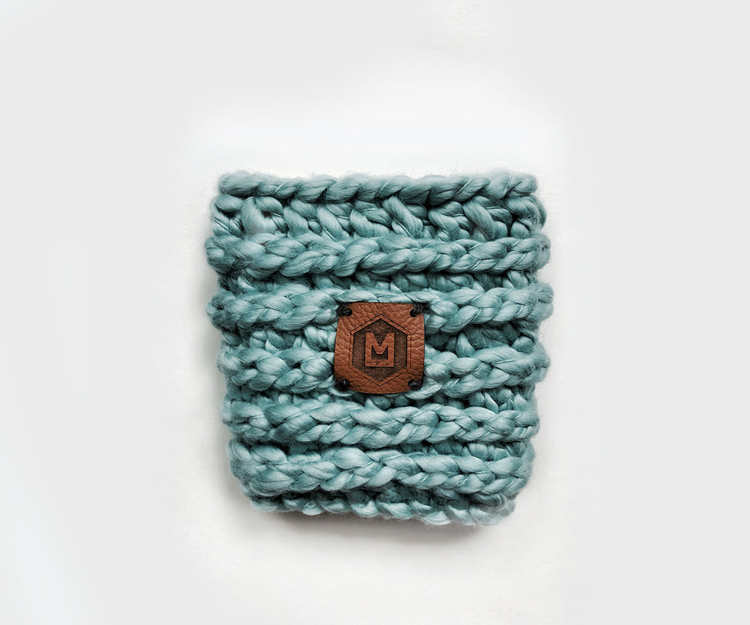 Chunky Coffee Cup Sleeve | Dark Teal