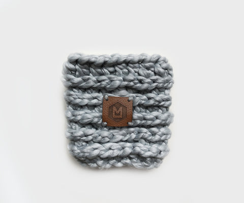 Chunky Coffee Cup Sleeve | Gray