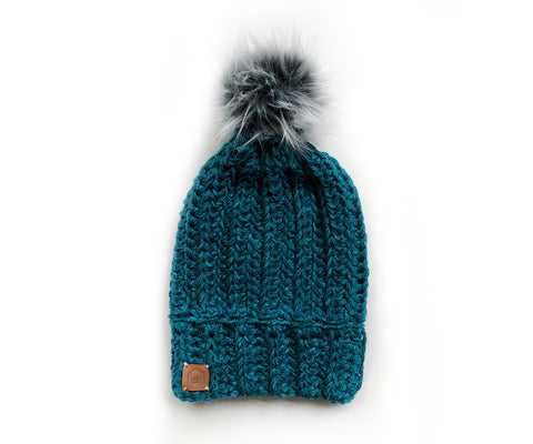 Cabin Life Beanie | Washed Teal