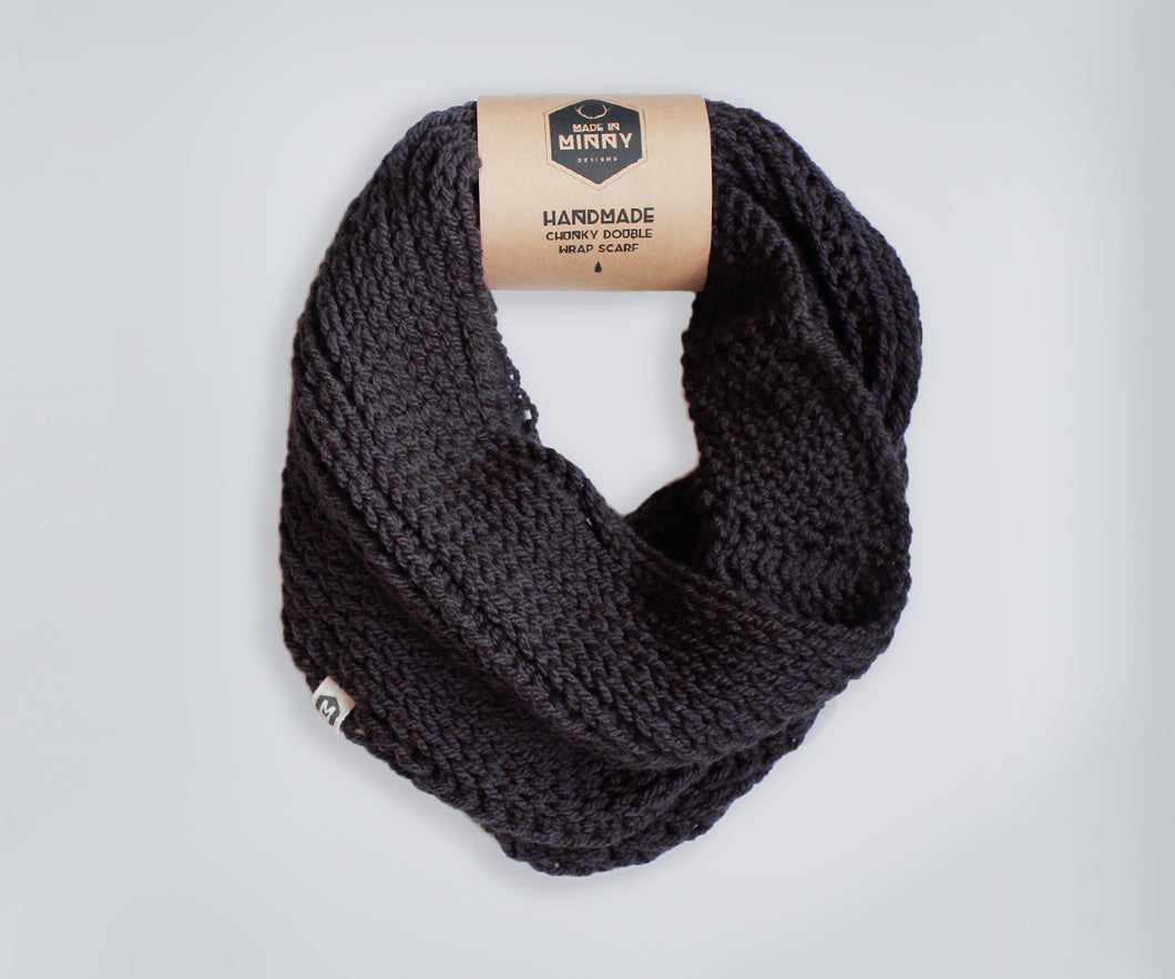 Double Wrap Scarf | Black