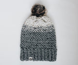 North Faux Fur Pom Beanie | Driftwood