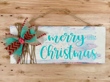 Distressed Reversible Merry Sign