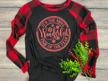 The Most Wonderful Time of the Year Raglan in Black