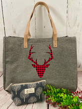 Buffalo Plaid Reindeer Bag