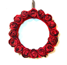 Buffalo Plaid Rose Wreath