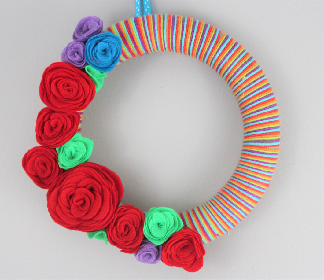 Red Rose Wreath