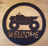 Off Road Wheeler Welcome Sign