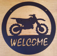 Dirt Bike Welcome Sign