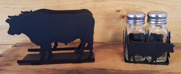 Cow Napkin and Shaker Sets