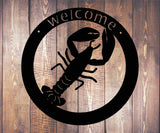 Lobster Welcome Sign