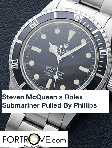 Steven McQueen's Rolex Submariner Pulled By Phillips