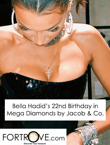 Bella Hadid's 22nd Birthday in Mega Diamonds by Jacob & Co.