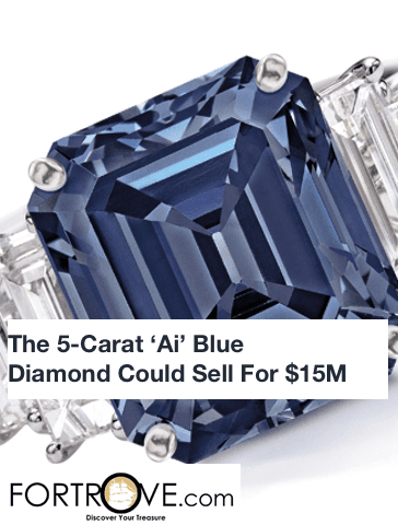 The 5-Carat 'Ai' Blue Diamond Could Sell For $15M