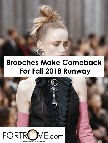 Brooches Make Their Big Comeback on Fall 2018 Runway