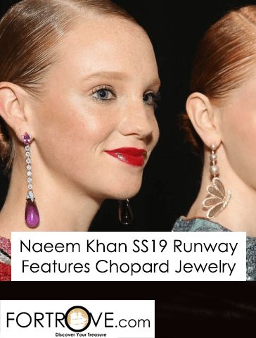 Chopard on the Spring Summer 2019 Naeem Khan Runway