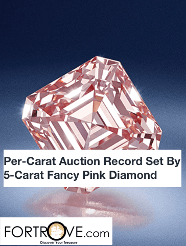 Per-Carat Auction Record Set By 5-Carat Fancy Pink Diamond