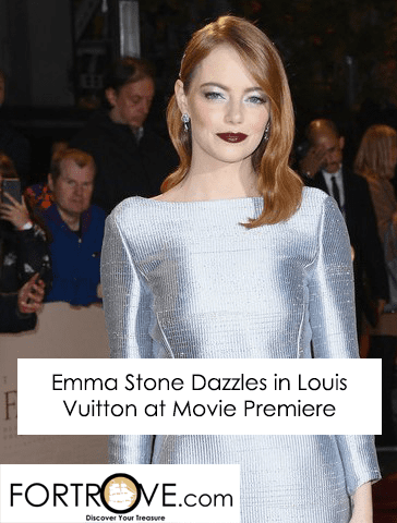 Emma Stone Dazzles in Louis Vuitton at Movie Premiere