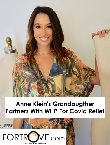 Anne Klein's Grandaugther Partners With WHP For Covid Relief