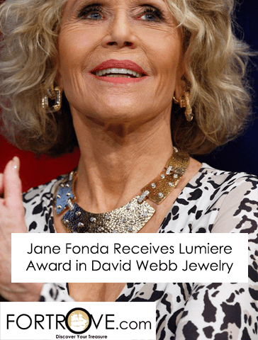 Jane Fonda Receives Lumiere Award in David Webb Jewelry
