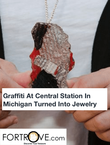 Graffiti At Central Station In Michigan Turned Into Jewelry