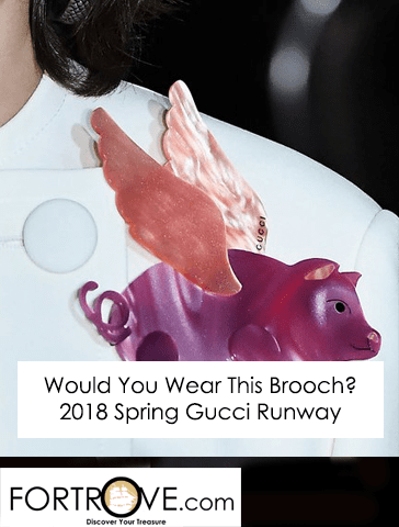 Would You Wear This Brooch? 2018 Spring Gucci Runway