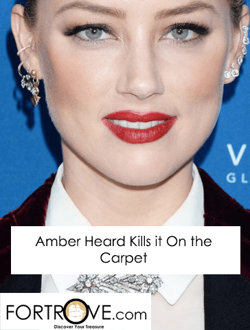 Amber Heard's Killer Look on the Porter Incredible Women Gala Red Carpet