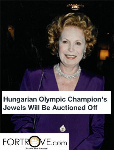 Hungarian Olympic Champion's Jewels Will Be Auctioned Off