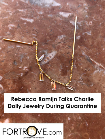 Rebecca Romijn Talks Charlie Dolly Jewelry During Quarantine