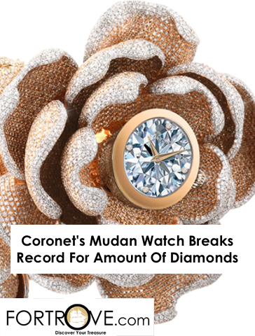 Coronet's Mudan Watch Breaks Record For Amount Of Diamonds