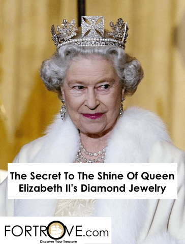 The Secret To The Shine Of Queen Elizabeth II's Diamond Jewelry