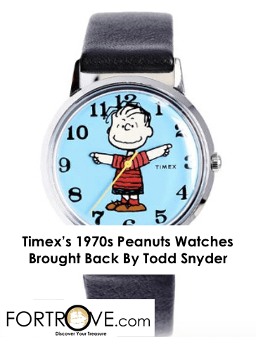 Timex's 1970s Peanuts Watches Brought Back By Todd Snyder