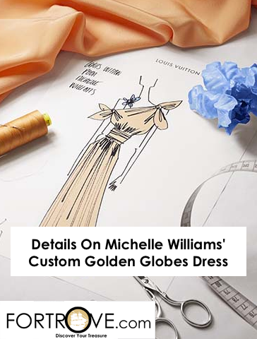 Details On Michelle Williams' Custom Golden Globes Dress