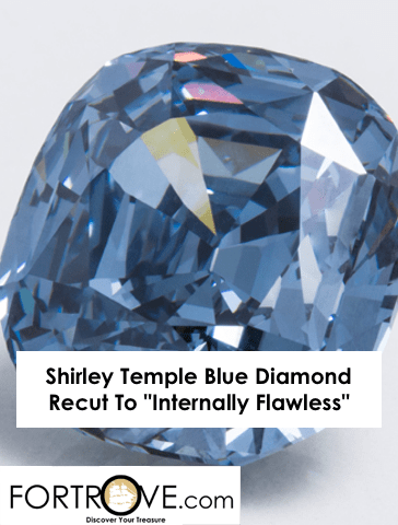 Shirley Temple Blue Diamond Recut To