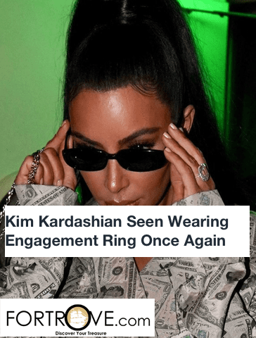 Kim Kardashian Seen Wearing Engagement Ring Once Again