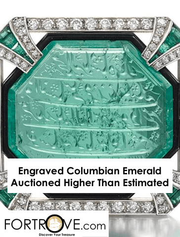Engraved Columbian Emerald Auctioned Higher Than Estimated