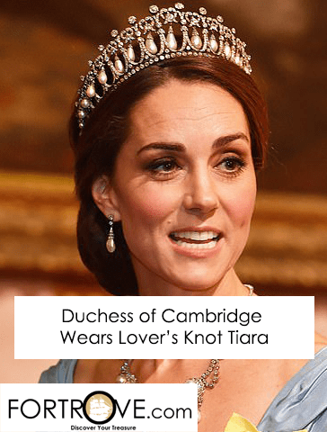 Duchess of Cambridge Wears Lovers Knot Tiara to State Dinner