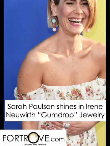Sarah Paulson Shines in Irene Neuwirth Gumball Jewelry