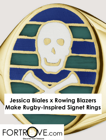 Jessica Biales x Rowing Blazers Make Rugby-Inspired Signet Rings