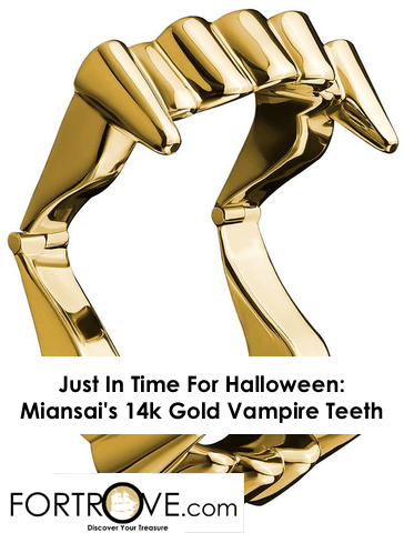Just In Time For Halloween: Miansai's 14k Gold Vampire Teeth