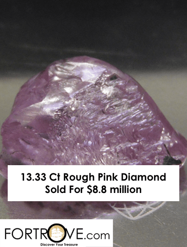 13.33 Ct Rough Pink Diamond Sold For $8.8 million